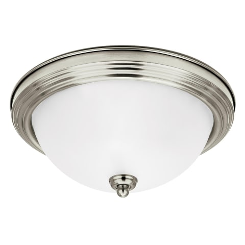 Geary One Light Flush Mount Brushed Nickel Bulbs Inc