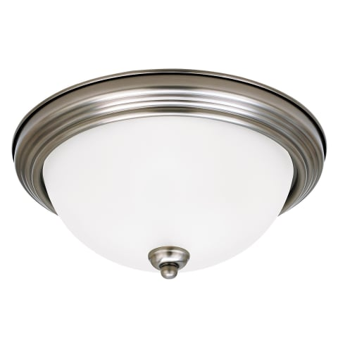 Geary Two Light Flush Mount Antique Brushed Nickel Bulbs Inc
