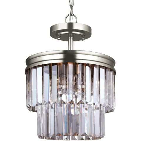 Carondelet Two Light Semi-Flush Convertible Pendant Antique Brushed Nickel
