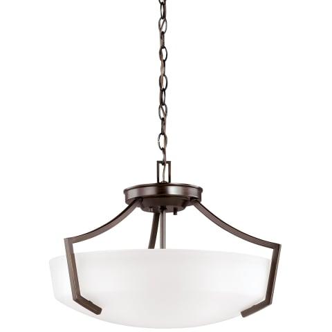 Hanford Three Light Ceiling Convertible Pendant Bronze Bulbs Inc