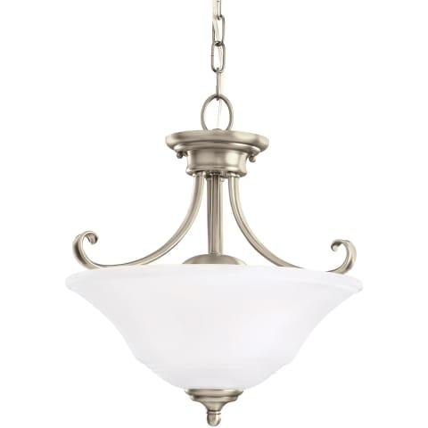Parkview Two Light Semi-Flush Convertible Pendant  Antique Brushed Nickel Bulbs Inc