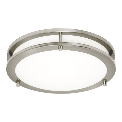 Mahone Large LED Flush Mount Brushed Nickel Bulbs Inc