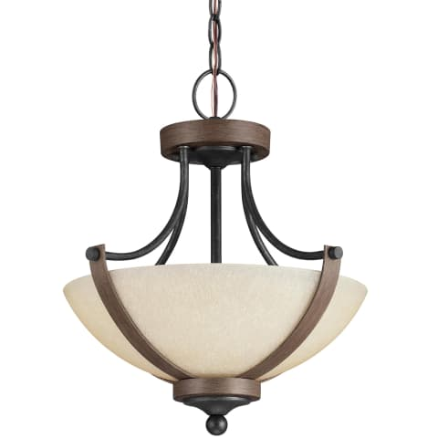 Corbeille Two Light Semi-Flush Convertible Pendant Stardust Bulbs Inc