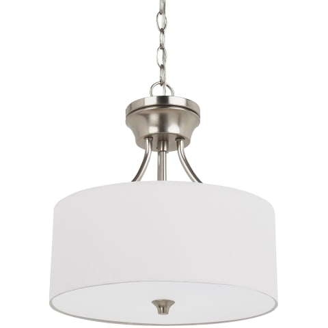 Stirling Two Light Semi-Flush Convertible Pendant Brushed Nickel Bulbs Inc