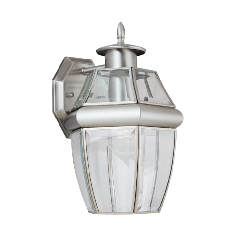 Lancaster One Light Outdoor Wall Lantern Antique Brushed Nickel