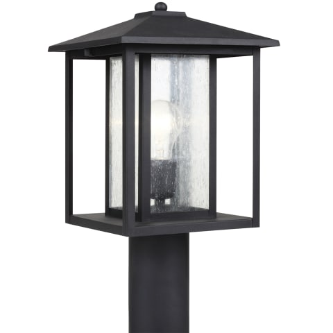 Hunnington One Light Outdoor Post Lantern Black