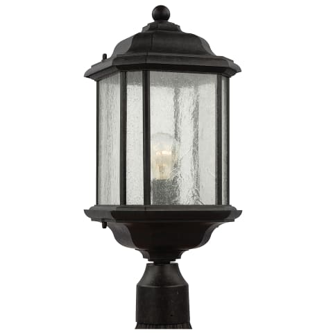 Kent One Light Outdoor Post Lantern Oxford Bronze