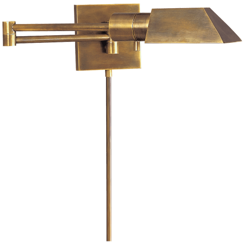 Studio Swing Arm Wall Light in Hand-Rubbed Antique Brass