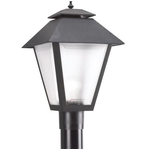 One Light Outdoor Post Lantern Black