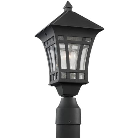 Herrington One Light Outdoor Post Lantern Black