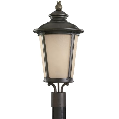 Cape May  One Light Outdoor Post Lantern Burled Iron