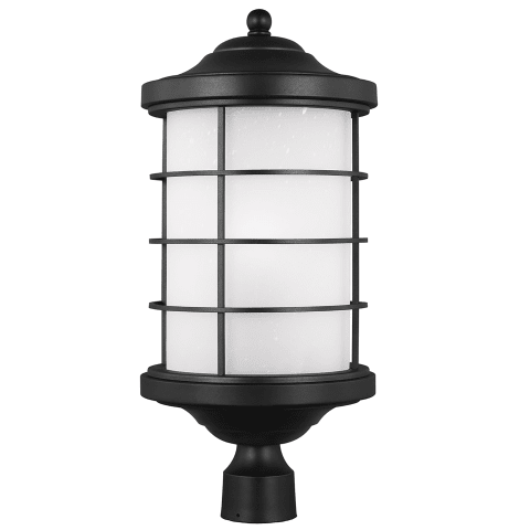 Sauganash One Light Outdoor Post Lantern Black