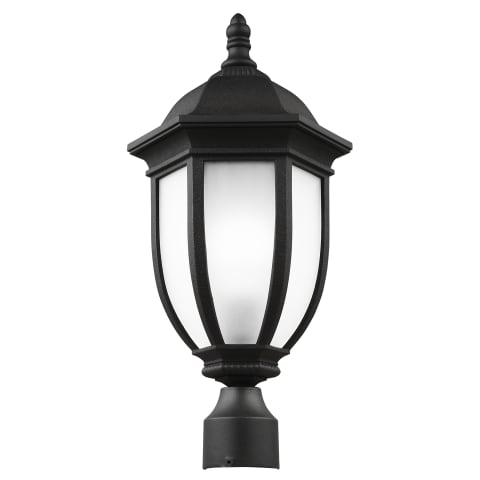Galvyn One Light Outdoor Post Lantern Black