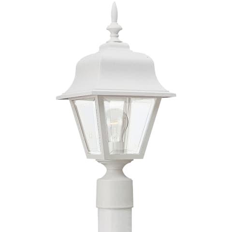 One Light Outdoor Post Lantern White