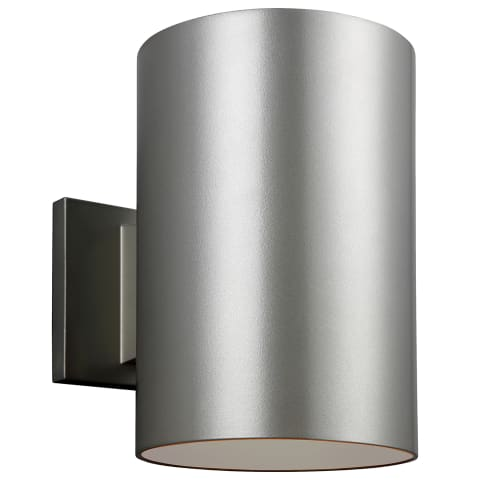 Outdoor Cylinders Large LED Wall Lantern Painted Brushed Nickel