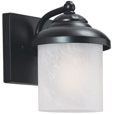 Yorktown Small One Light Outdoor Wall Lantern Black Bulbs Inc