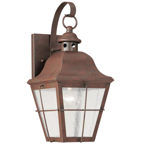 Chatham One Light Outdoor Wall Lantern Weathered Copper