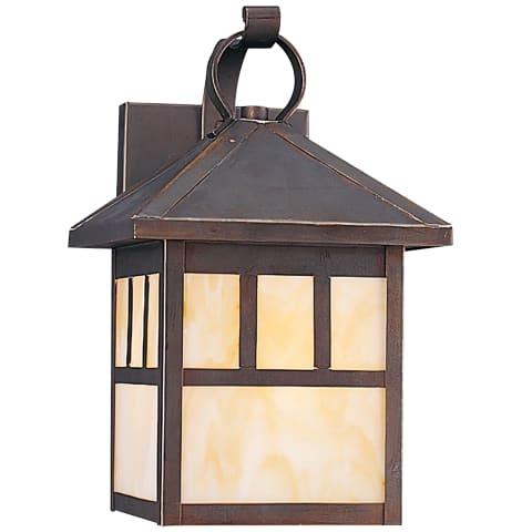 Prairie Statement One Light Outdoor Wall Lantern Antique Bronze