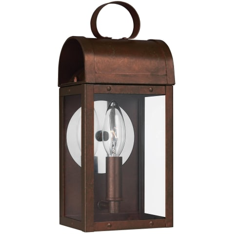 Conroe One Light Outdoor Wall Lantern Weathered Copper