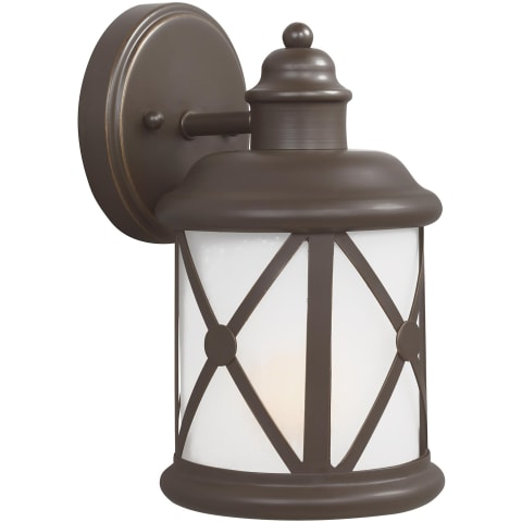 Lakeview Small One Light Outdoor Wall Lantern Antique Bronze Bulbs Inc
