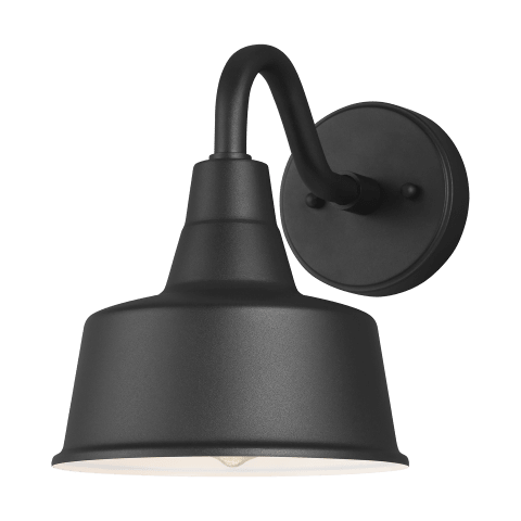 Barn Light Small One Light Outdoor Wall Lantern Black