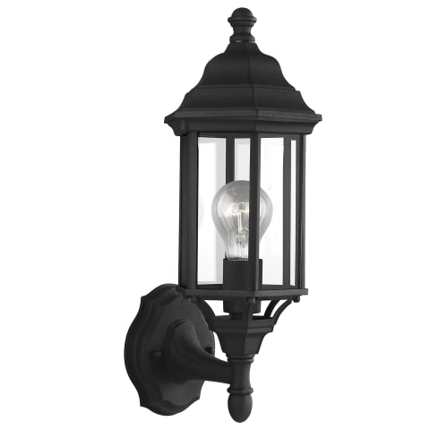 Sevier Small One Light Uplight Outdoor Wall Lantern Black