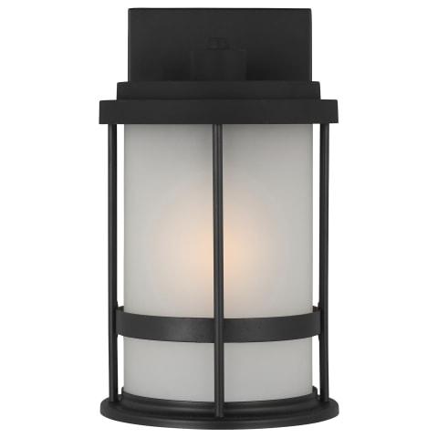 Wilburn Small One Light Outdoor Wall Lantern Black Bulbs Inc