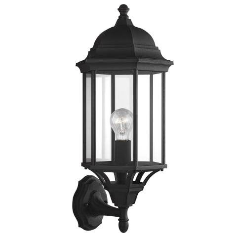 Sevier Large One Light Uplight Outdoor Wall Lantern Black