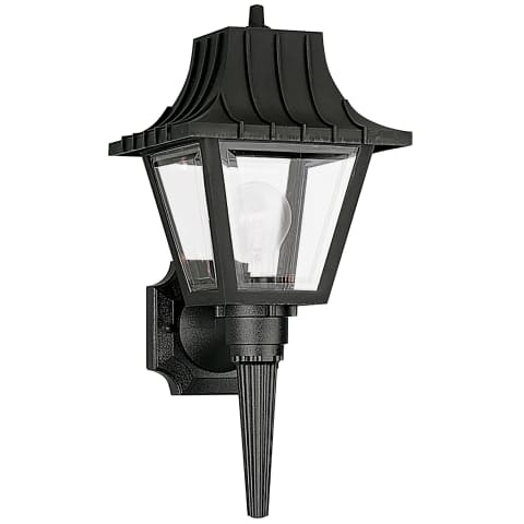 One Light Outdoor Wall Lantern Clear