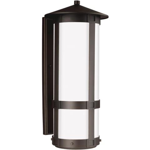 Groveton Extra Large Two Light Outdoor Wall Lantern Antique Bronze Bulbs Inc