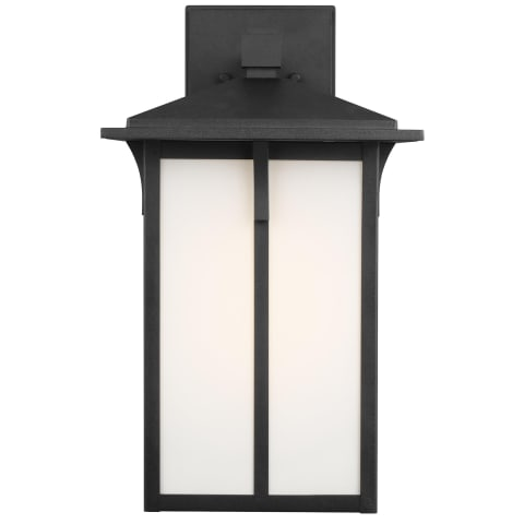 Tomek Large One Light Outdoor Wall Lantern Black