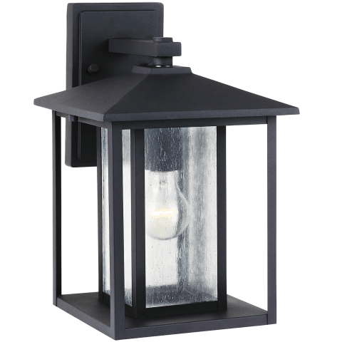 Hunnington One Light Outdoor Wall Lantern Black