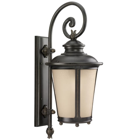 Cape May  Large One Light Outdoor Wall Lantern Burled Iron