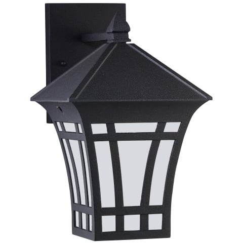 Herrington One Light Outdoor Wall Lantern Black Bulbs Inc