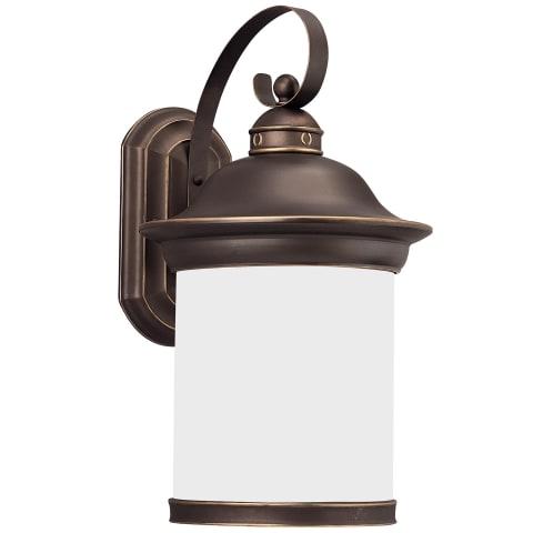 Hermitage One Light Outdoor Wall Lantern Antique Bronze Bulbs Inc