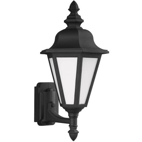 Brentwood Medium Uplight One Light Outdoor Wall Lantern Black Bulbs Inc