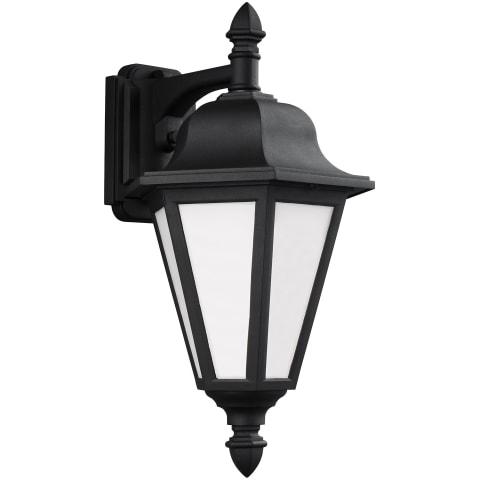 Brentwood Medium One Light Outdoor Wall Lantern Black