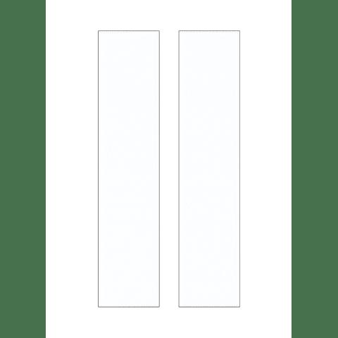 Address Light Tiles Two 1.125 White Plastic