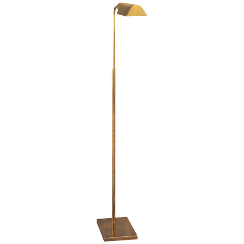 Studio Adjustable Floor Lamp in Hand-Rubbed Antique Brass