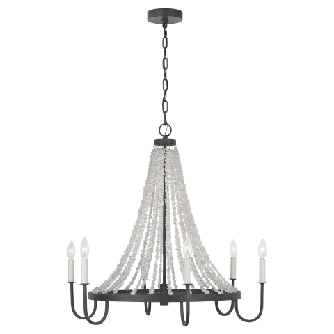 Leon Medium Chandelier Dark Weathered Zinc
