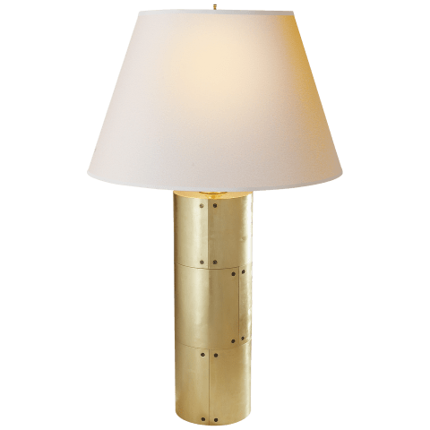 Yul Table Lamp in Natural Brass with Natural Paper Shade
