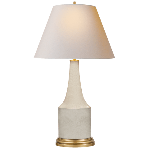 Sawyer Table Lamp in Tea Stain Porcelain with Natural Paper Shade