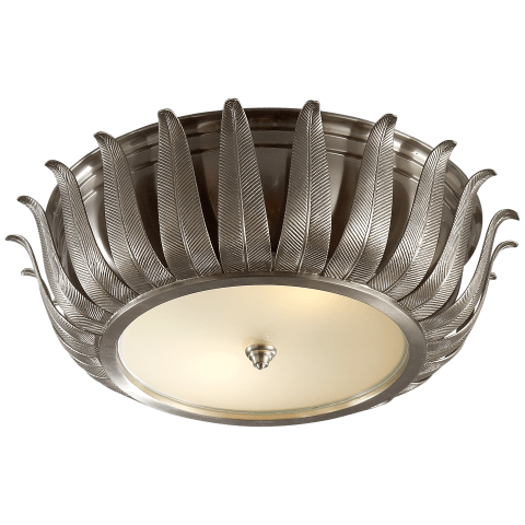 Audrey Flush Mount in Brushed Nickel with Frosted Glass