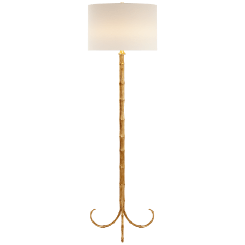 Edgemere Floor Lamp in Gild with Linen Shade