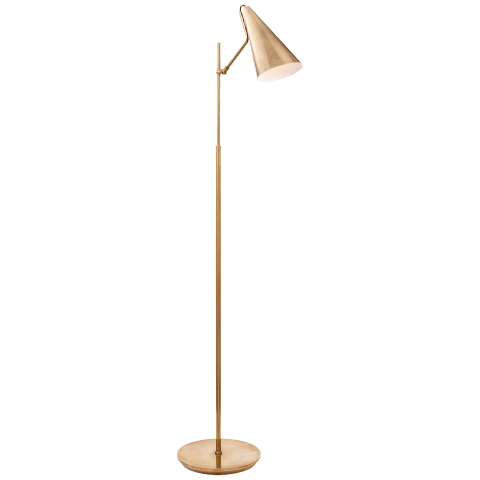 Clemente Floor Lamp in Hand-Rubbed Antique Brass