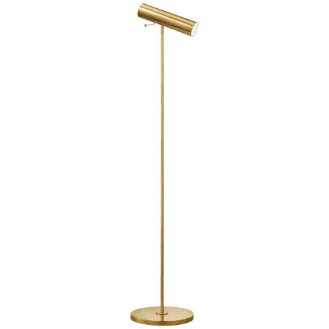 Lancelot Pivoting Floor Lamp in Hand-Rubbed Antique Brass