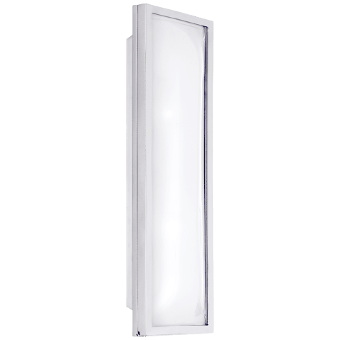 Croz Long Sconce in Polished Nickel with Frosted Glass