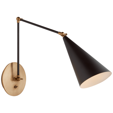 Clemente Double Arm Library Sconce in Black