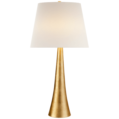 Dover Table Lamp in Gild with Linen Shade