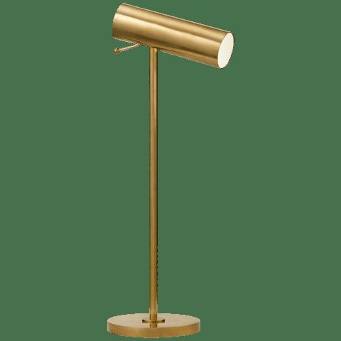 Lancelot Pivoting Desk Lamp in Hand-Rubbed Antique Brass